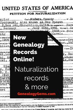 New Genealogy Records Online! New Genealogy Records Online! Free Genealogy Records, Free Genealogy Sites, Genealogy Chart, Genealogy Research, Family Genealogy, Genealogy Forms, Genealogy Humor, Printable Poster, Schrift Design