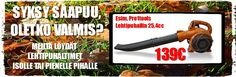 Syksy saapuu - Lehtipuhallin 25,4cc - 139€ Outdoor Power Equipment, Leaves, Garden Tools