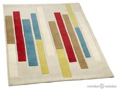 Striking block design #rug for a modern home feel.