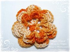 3-D+Häkelblume++♥+orange+Blume++-2-+♥+von+Angelas+Teddywelt++auf+DaWanda.com