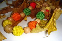 Nursing Necklace Autumn color Breastfeeding by MiracleFromThreads, $25.00