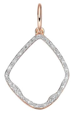 Monica Vinader'Riva' Diamond Hoop Pendant