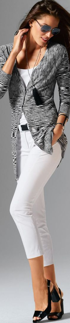 Madeleine Cardigan in Wool White/Black Spring 2016 • Street CHIC • ❤️ Babz™ ✿ιиѕριяαтισи❀ #abbigliamento