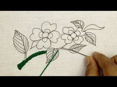 Beauty of hand embroidery with a beautiful combination of Bullion Knots and Raised Buttonhole Stitch - YouTube Hand Embroidery Flower Designs, Hand Embroidery Tutorial, Embroidery Flowers Pattern, Crewel Embroidery, Floral Embroidery, Flower Patterns, Blouse Pattern Free, Very Beautiful Flowers, Easy Stitch