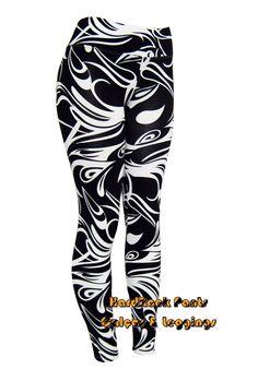 Calça Legging Folhagem #calça #legging #moda #feminina #folhas #folhagem #BiColor #PretaEBranca #abstrata #estampada #HardRockPants