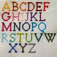 Embroidered Cross Stitch Alphabet Necklace on Etsy Mehr Cross Stitch Letters, Cross Stitch Baby, Modern Cross Stitch, Cross Stitch Designs, Cross Stitch Bookmarks, Cross Stitching, Cross Stitch Embroidery, Embroidery Patterns, Hand Embroidery