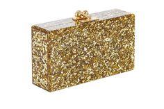 Edie Parker Jean Solid Handbag Clutch Gold Confetti