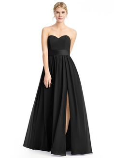 AZAZIE FIONA. Fiona is a floor-length dress with a strapless sweetheart neckline and is made of chiffon in an A-line cut. #Bridesmaid #Wedding #CustomDresses #AZAZIE
