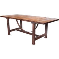 Industrial Pine Dining Table from Limagne France