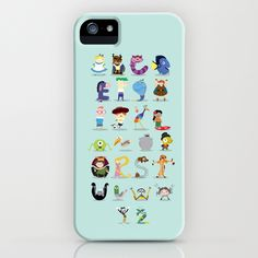Animated characters abc iPhone & iPod Case by Maria Jose Da Luz | Society6