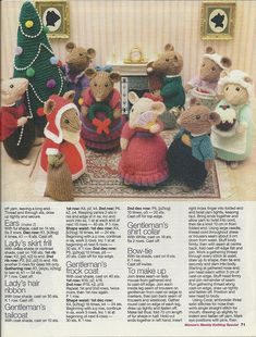 Christmas scene Page 2 Animal Knitting Patterns, Christmas Knitting Patterns, Doll Patterns, Simply Knitting, Knitting For Charity, Knitted Dolls, Crochet Toys, Yarn Dolls, Alan Dart