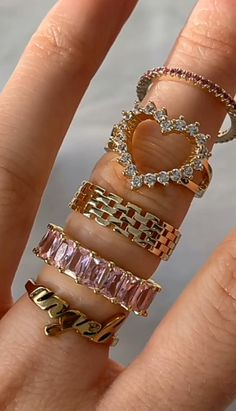 Nail Jewelry, Cute Jewelry, Jewelry Rings, Jewelry Accessories, Aesthetic Rings, Photo Deco, Bling, Accesorios Casual, Cute Rings