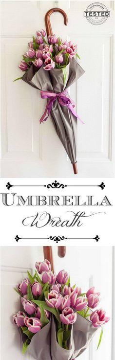 Unique and Whimsical Umbrella Display