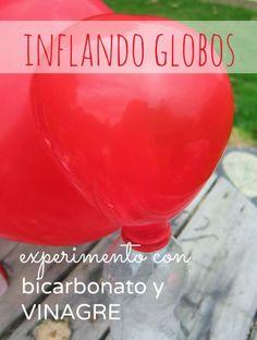 Nuestro Mundo Creativo: Inflando globos: Experimento para niños