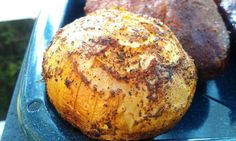 smoked onions- rub on oil, sprinkle with seasonings, smoke 2-3 hours