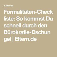 Formalitäten-Checkliste: So kommst Du schnell durch den Bürokratie-Dschungel | Eltern.de