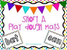 Play dough mats for short A words!