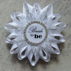Bridal Shower Decorations Bride to Be Pin by PetalPerceptions