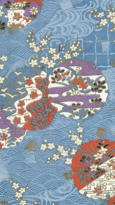 Japanese Art Modern, Japanese Paper, Japanese Fabric, Japanese Kimono, Japanese Style, Chinese Patterns, Japanese Patterns, Japanese Textiles, Japanese Prints