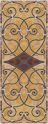 Open High Resolution Stone Wall-tile Diamonte floor medallions Picture