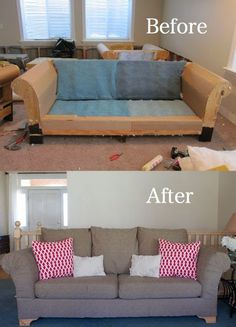 do it yourself divas: DIY Strip Fabric From a Couch and Reupholster It