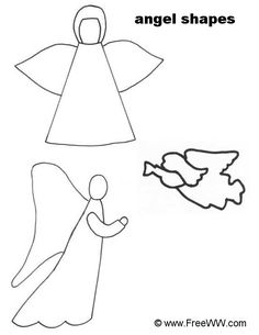 simple angel clip art free | ... Outdoor Christmas Decorations & Yard Art - 10 Free Plans - Plans 1-8