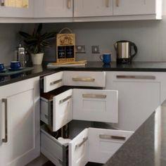 Corner drawers; organisational heaven.