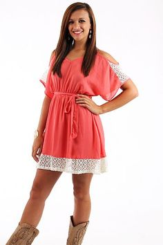 Open To Lace Dress, coral $43 www.themintjulepboutique.com Support and Roll Coal For Diesel Dave. Buy Awesome Diesel Truck Apparel! Click the link below! Stay Tuned For Truck Giveaways. http://www.dieselpowergear.com/#_a_Cowroy