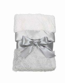 Grey Silky Soft Security Blanket by Bearington Bear. Available at OurPamperedHome.com
