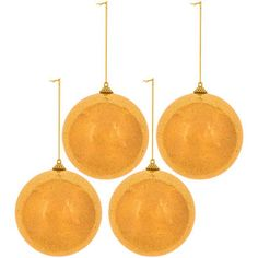 Champagne Shimmer Ball Ornaments