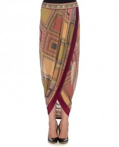 Multi Scarf Board Dhoti Skirt