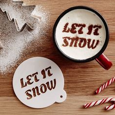 To create a designer coffee,  make a stencil for your holiday cheer!