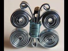 como hacer un broche mariposa con alambre plano. brooch butterfly wire