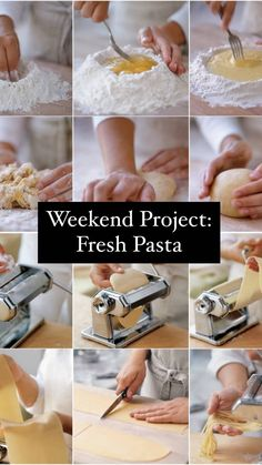 Weekend Project: Fresh Pasta Best Pasta Recipes, Cooking Recipes, Learn To Cook, Food To Make, Seafood Pasta, Fresh Pasta, Good Enough To Eat, Food For Thought, Pasta Dishes