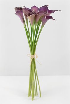 Natural Touch Flowers Calla Lilies Bouquet Purple (12 flowers)  $12.99  (fade & water resistant)