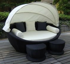 Super Cozy Outdoor Sofa With Canopy Wicker Sets