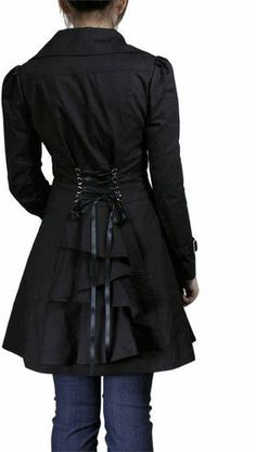 Corset and Bustle Back Trench Coat