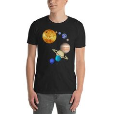 Planets in Solar System - Space Science Short-Sleeve Unisex T-Shirt