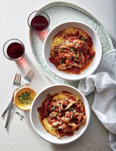 Pork Ragù with Polenta |   Create golden crusts on your pork roast by browning it before placing it in the slow cooker. Red wine, tomatoes, and plenty of aromatics enrich the pork ragù with savory depth as it cooks low and slow. Kale adds earthiness and a welcomed contrast of texture. Once the pork has cooked, use two forks to shred the tender meat before placing it back in the pool of rich sauce. Serve ragù over polenta, pasta, or rice for a hearty, satisfying main that is built for…