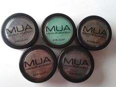 MUA eye dusts review and swatches!! x  http://www.sufferformakeup.com/2014/02/mua-eye-dusts-review-and-swatches.html