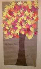 """""""The Giving Tree"""" classroom project for elementary teachers.  Use in November!  On their traced hand, have students write one no-cost gift that they could give to the people in their life!"""