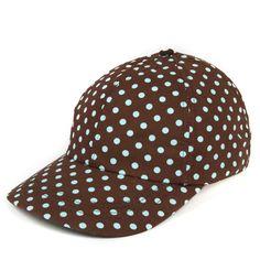 : Golf and Baseball Hats Polka Dot Shoes, Polka Dots, House Of Beauty, Love Hat, Caps For Women, Golf Fashion, Ladies Golf, Stripes, Hats