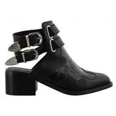 Flaming Black Leather Tony Bianco Ankle Boot