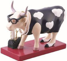 Fashion-A-Bull Cow Figurine Well there are some cows that to them image is everything.