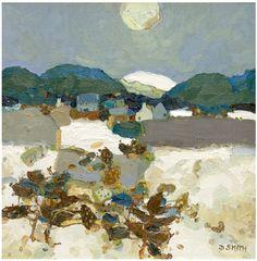 David SMITH RSW - Winter Braemar
