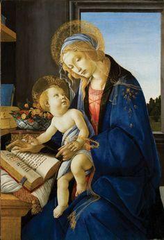 Sandro Botticelli (Alessandro Filipepi), Madonna and Child (Madonna col Bambino), also called Madonna of the Book (Madonna del Libro), 1480–81
