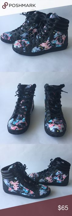 Iron Fist My Little Pony High Tops New never worn but no box Iron Fist My Little Pony High Tops. Very cute design, women's shoes Iron Fist Shoes Sneakers
