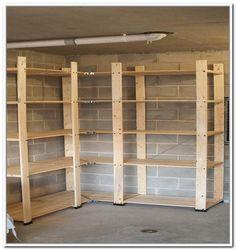 49 best garage shelving ideas images on pinterest shelf ideas rh pinterest com Building Garage Storage Cabinets For Garage Storage Wood Shelves