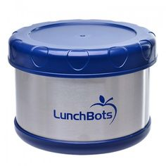LunchBots Thermal Insulated Food Container Dark Blue - Enjoy a hot lunch on the go! LunchBots Thermal Insulated Food Containers keep hot foods ho Hot Food Containers, Insulated Lunch Containers, Metal Containers, Stainless Steel Lunch Containers, Stainless Steel Bento Box, Natural Bowls, Soup In A Jar, Homemade Chicken Soup, School Lunch Box