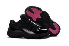 6272334d8b49 2017 Air Jordan 11 Low Black Pink Lovers Shoe